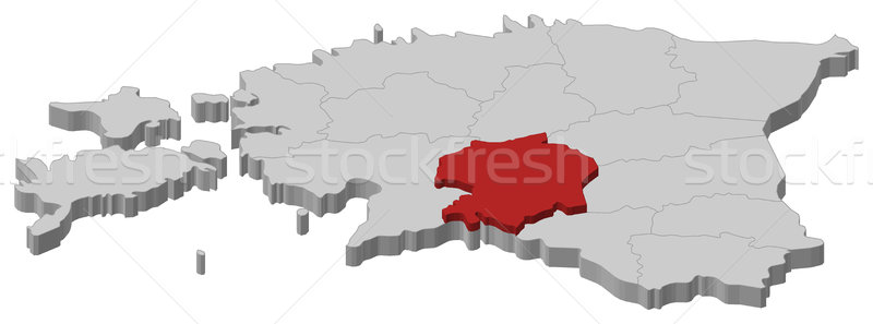 Map of Estonia, Viljandi highlighted Stock photo © Schwabenblitz
