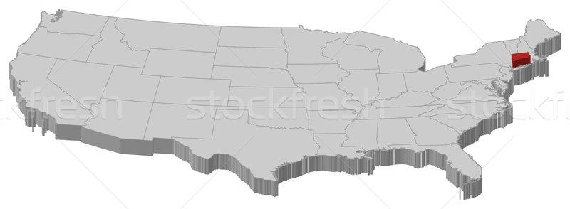 Mapa Estados Unidos Connecticut político vários abstrato Foto stock © Schwabenblitz