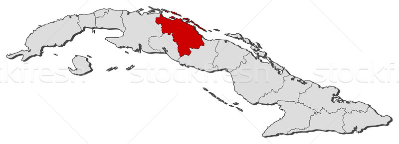 Map of Cuba, Villa Clara highlighted Stock photo © Schwabenblitz