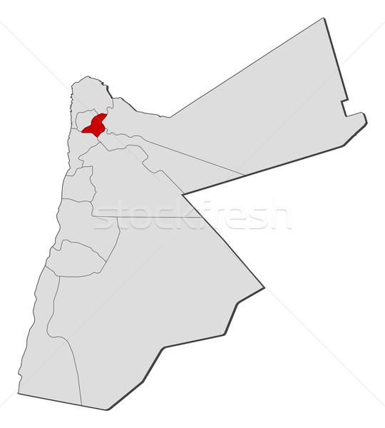 地図 ヨルダン 政治的 いくつかの 抽象的な 地球 ストックフォト © Schwabenblitz