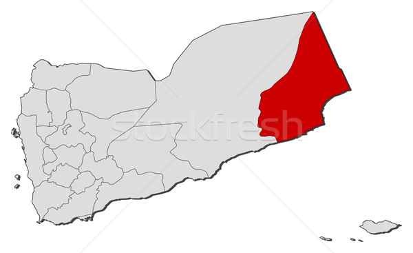 Stockfoto: Kaart · Jemen · politiek · verscheidene · abstract · achtergrond