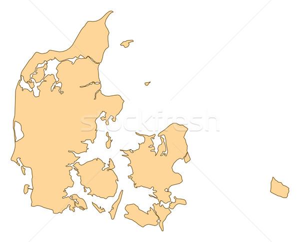 Harita Danimarka birkaç soyut dünya arka plan Stok fotoğraf © Schwabenblitz
