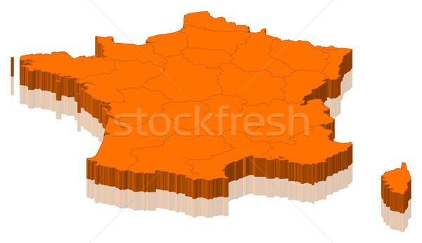Harita Fransa siyasi birkaç bölgeler soyut Stok fotoğraf © Schwabenblitz