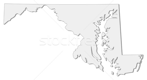 Map of Maryland (United States) Stock photo © Schwabenblitz