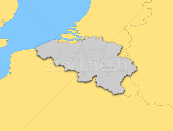 Mapa Bélgica político mundo resumen Foto stock © Schwabenblitz