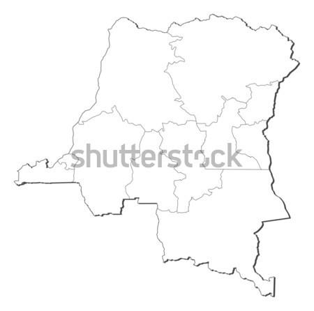 Harita demokratik cumhuriyet Kongo siyasi birkaç Stok fotoğraf © Schwabenblitz