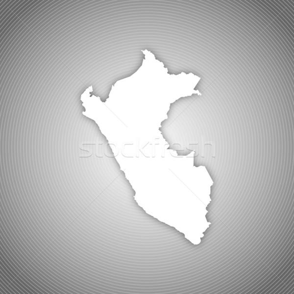 карта Перу политический несколько аннотация Сток-фото © Schwabenblitz