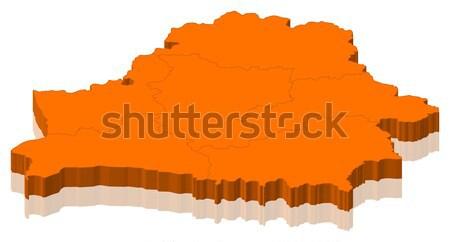 Mapa Bielorrusia político resumen mundo Foto stock © Schwabenblitz