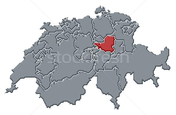 Harita siyasi birkaç soyut arka plan iletişim Stok fotoğraf © Schwabenblitz