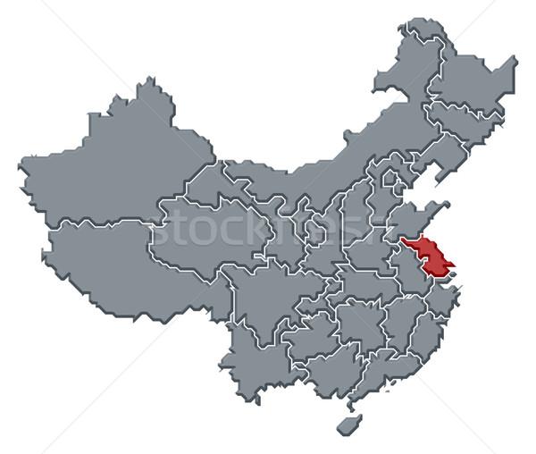 Karte China politischen mehrere abstrakten Hintergrund Stock foto © Schwabenblitz