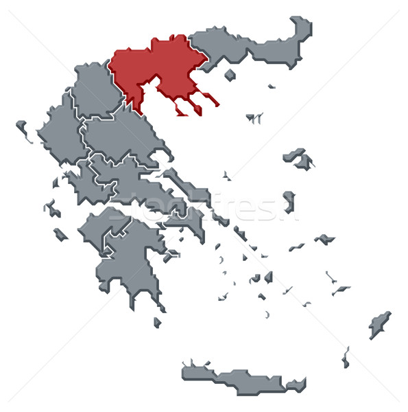 Map of Greece, Central Macedonia highlighted Stock photo © Schwabenblitz