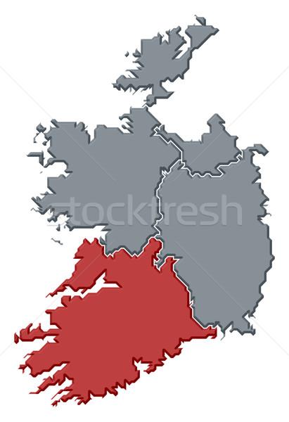 Map of Ireland, Munster highlighted Stock photo © Schwabenblitz