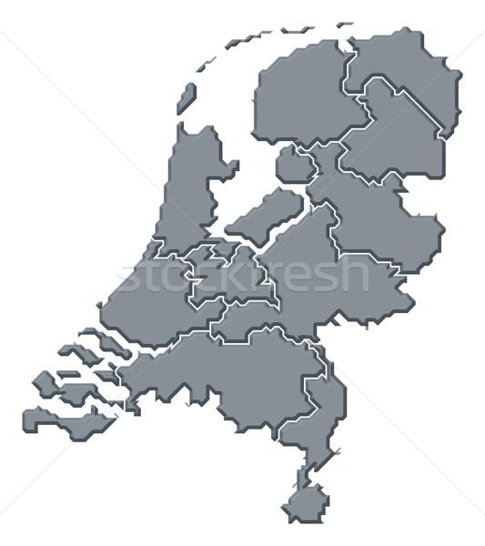 Kaart Nederland politiek verscheidene abstract achtergrond Stockfoto © Schwabenblitz