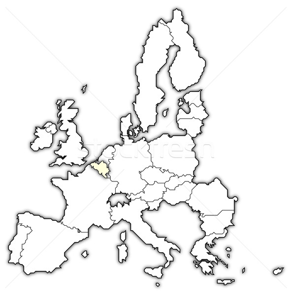 Map of the European Union, Belgium highlighted Stock photo © Schwabenblitz