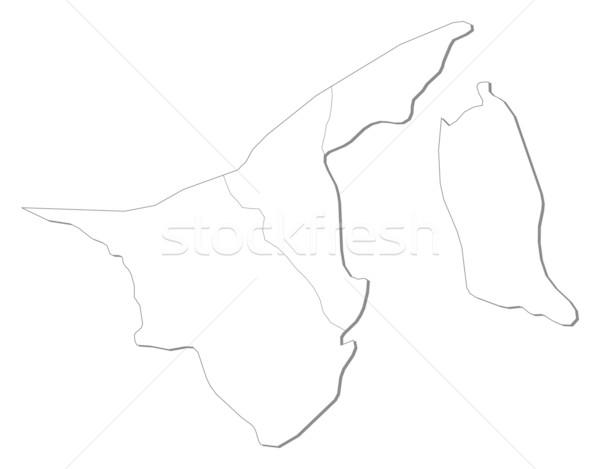 карта Бруней черный линия аннотация земле Сток-фото © Schwabenblitz