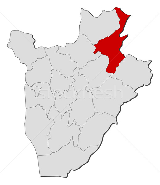 Map - Burundi, Muyinga Stock photo © Schwabenblitz