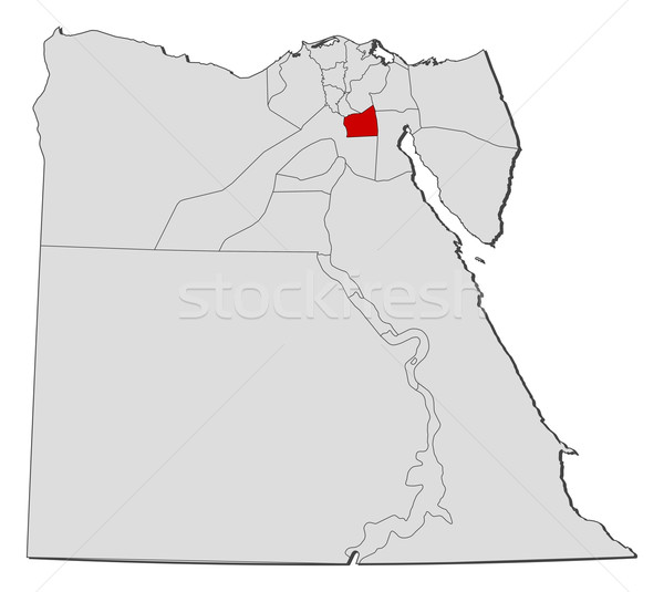 Map Of Egypt Cairo Highlighted Vector Illustration Steffen - Map of egypt vector
