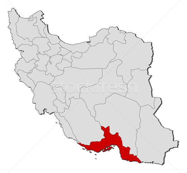 Mapa Irã político vários abstrato terra Foto stock © Schwabenblitz