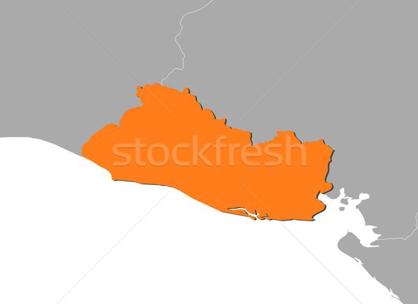 Map of El Salvador Stock photo © Schwabenblitz