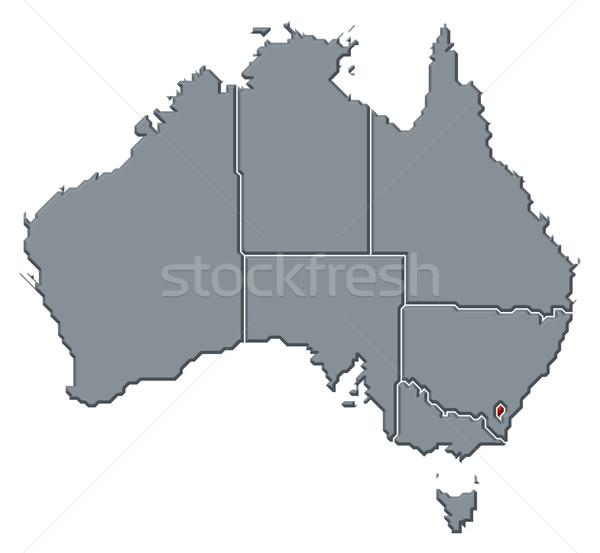 Mappa Australia territorio politico parecchi abstract Foto d'archivio © Schwabenblitz