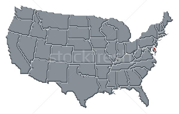 Mapa Estados Unidos Delaware político vários abstrato Foto stock © Schwabenblitz
