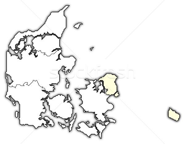 Harita bölge siyasi birkaç bölgeler soyut Stok fotoğraf © Schwabenblitz