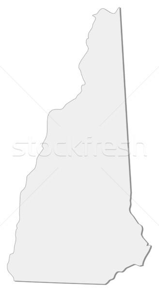 Harita New Hampshire Amerika Birleşik Devletleri soyut arka plan iletişim Stok fotoğraf © Schwabenblitz
