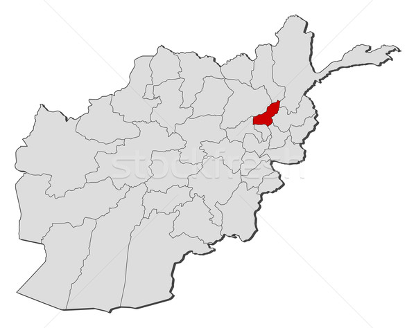 Map of Afghanistan, Panjshir highlighted Stock photo © Schwabenblitz
