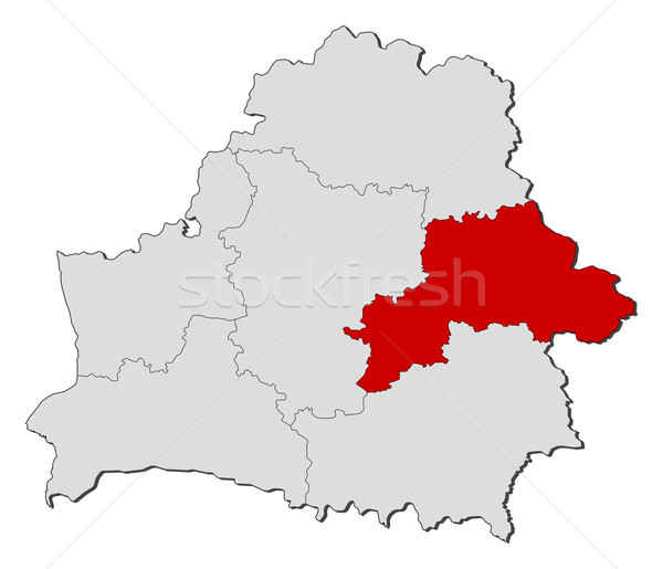 Map of Belarus, Mogilev highlighted Stock photo © Schwabenblitz