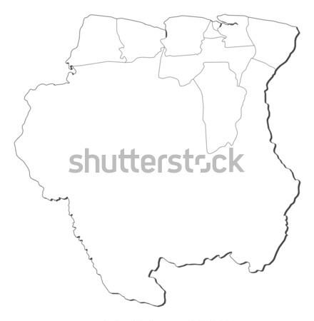 карта Суринам политический несколько аннотация искусства Сток-фото © Schwabenblitz