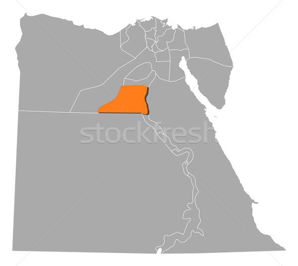 Map of Egypt, Minya highlighted Stock photo © Schwabenblitz