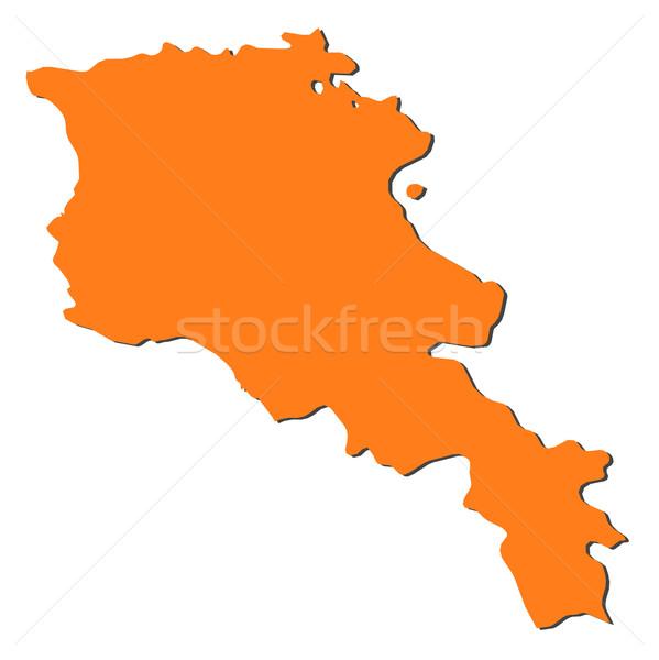 Foto stock: Mapa · Armênia · político · vários · abstrato · mundo