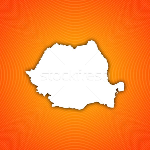 Mapa Romênia político vários abstrato mundo Foto stock © Schwabenblitz