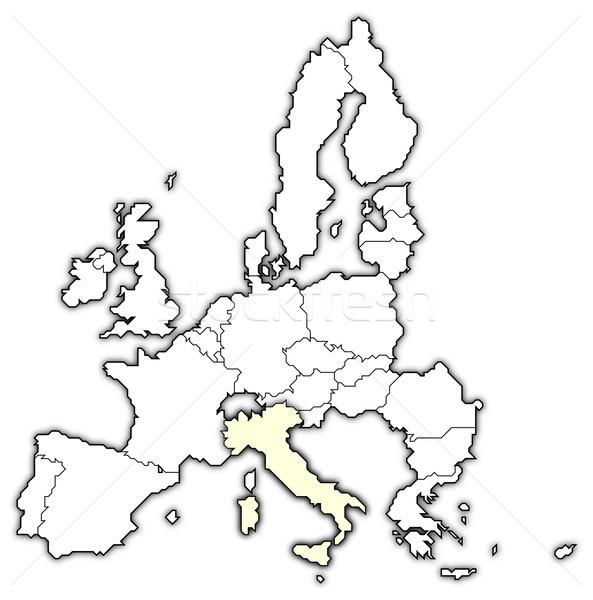 карта европейский Союза Италия политический несколько Сток-фото © Schwabenblitz