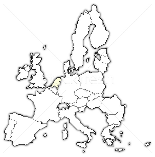 Map of the European Union, Netherlands highlighted Stock photo © Schwabenblitz