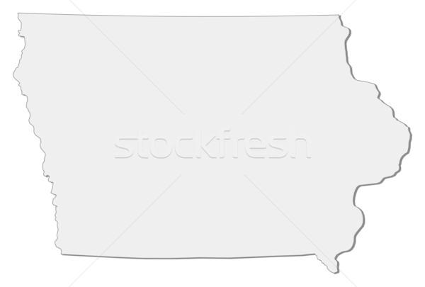 карта Айова Соединенные Штаты аннотация фон связи Сток-фото © Schwabenblitz
