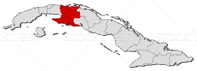 Map of Cuba, Matanzas highlighted Stock photo © Schwabenblitz