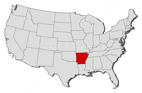 Kaart Verenigde Staten Arkansas politiek verscheidene abstract Stockfoto © Schwabenblitz