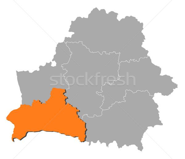 Harita Belarus siyasi birkaç soyut arka plan Stok fotoğraf © Schwabenblitz