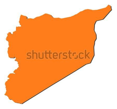 Foto stock: Mapa · Síria · político · vários · abstrato · mundo