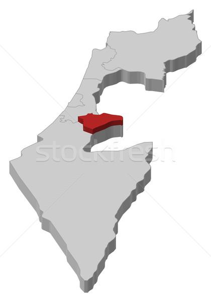 Mapa Israel Jerusalém político vários abstrato Foto stock © Schwabenblitz