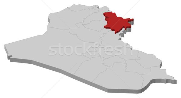 Foto stock: Mapa · Iraque · político · vários · abstrato · fundo