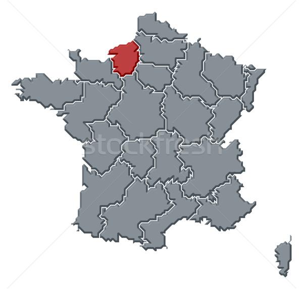 Mapa França normandia político vários regiões Foto stock © Schwabenblitz