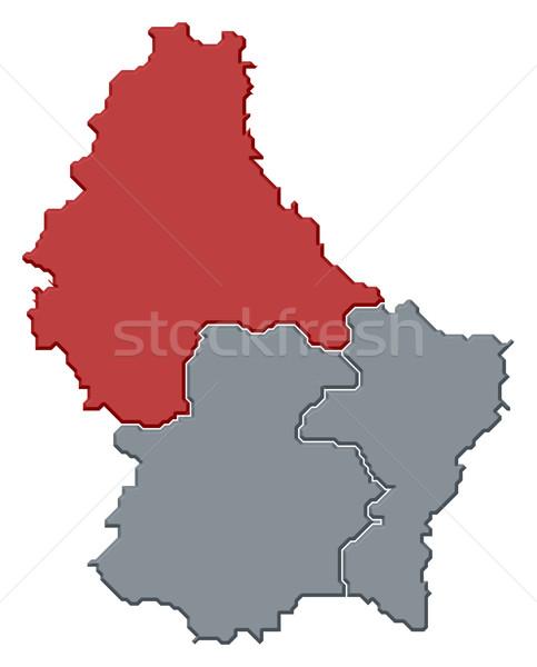 Térkép Luxemburg politikai néhány absztrakt világ Stock fotó © Schwabenblitz