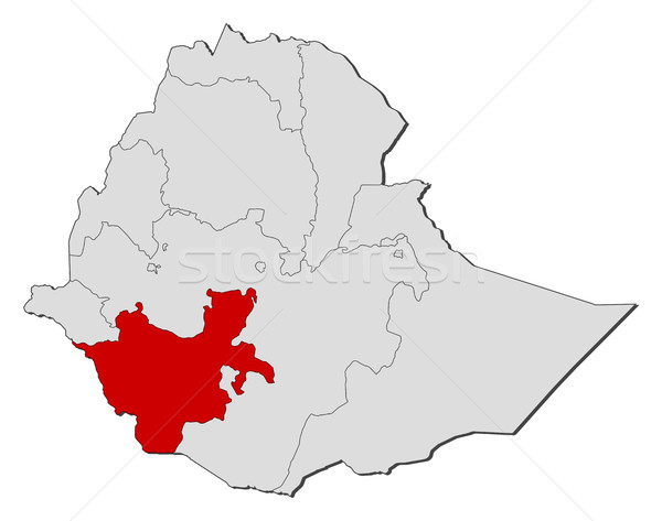 Map - Ethiopia, Southern Nations, Nationalities, and Peoples' Region Stock photo © Schwabenblitz