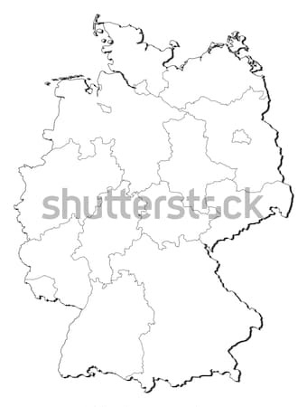 Mappa Germania politico parecchi mondo abstract Foto d'archivio © Schwabenblitz