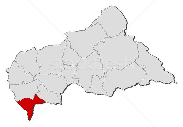 Stock fotó: Térkép · központi · afrikai · köztársaság · politikai · néhány