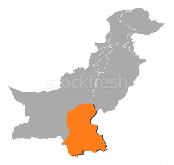 Térkép Pakisztán politikai néhány absztrakt háttér Stock fotó © Schwabenblitz