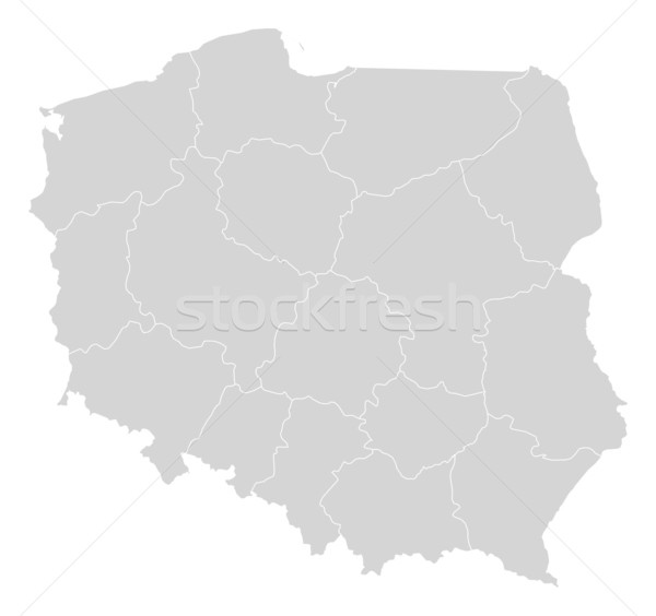 Map of Poland Stock photo © Schwabenblitz