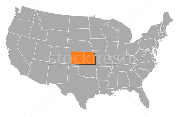 Carte États-Unis Kansas politique plusieurs résumé Photo stock © Schwabenblitz